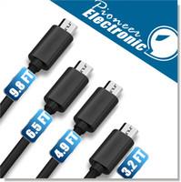ladekabel 2m großhandel-Premium 2A High Speed Micro USB Kabel Typ C Kabel Powerline 4 Längen 1M 1,5M 2M 3M Sync Quick Charging USB 2.0 für Note 10 Android smart