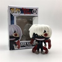 tokio ghoul kaneki figura de acción al por mayor-POPOToyFirm Funko POP 61 # Q Versión Tokyo Ghoul Kaneki Ken Película caliente Anime Figure 10cm PVC Anime Figure Figura de acción