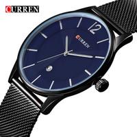 novo quartzo quartzo venda por atacado-CURREN nova moda casual relógio de quartzo dos homens calendário completo relógio de negócios à prova d 'água relogio masculino