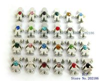 Wholesale Memory Boy - Wholesale- Wholesale 10pcs mix color girl&boy birthstone floating locket charm Fit memory locket charm