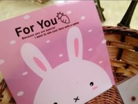 Wholesale Soap Rabbit - Cute rabbit baked cookies self-adhesive bag candy gift bag toilet soap bag 10*10+3cm