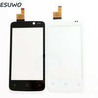 Wholesale iq iphone - Wholesale- ESUWO Touch Screen Digitizer For Fly IQ447 IQ 447 ERA Life1 Front Glass Panel Touchscreen Sensor Glass +3m Sticker