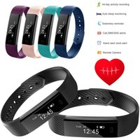 per Iphone x ID 115 Smart Wristband Watch Band ID115 Wireless Tracker Fitness Bluetooth Touch Screen Touch Monitor da polso Wristband
