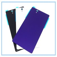 Wholesale Xperia Z Back - 10pcs L36h Battery Back Cover Housing for Sony Xperia Z L36H L36 C6603 C6602 LT36 Back Battery Door With Tracking White Black Purple