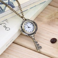 Antique Stainless Steel Quartz Pocket Watch Key Shaped Pendant Watch Chaveiro Unisex Gift New Popular New Hot Selling