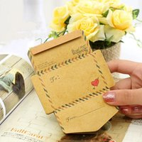 Wholesale Envelope Memo Pads - Wholesale- Retro Vintage Kraft Paper Envelope Memo Pads School Office Stationery 45 pcs set