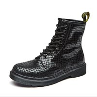 Wholesale Sexy Gothic Mix - 2017 Popular Sexy Street Girls Short Boot Lace up Round Toe Boots Women Punk Gothic Martin Shoes