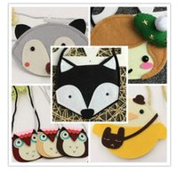 Wholesale Wholesale Animal Purses For Children - Bags Purses for Baby Girl Fox Cat Coin Top Quality Children Accessories Animal Purses Cartoon Cross Body Coin Kids Purse