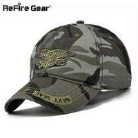 chapeau de l'armée tactique achat en gros de-Navy Seal Summer Casual Camouflage Casquette de baseball Hommes réglable Army Tactical Hats Mode Coton Camo Travel Caps Unisexe 55-59 q170662
