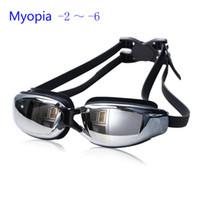 Wholesale Nearsight Glasses - Multi Prescription Optical Myopia Nearsight Goggle Glasses Sportswear Silicone Polycarbonate Lens Anti-fog Coated Watertight Free Shipping