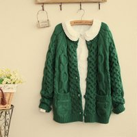 Wholesale Early Autumn Korean Designer Women Twist Sweater Ladies Long Sleeve Cardigans Sweaters Plus Size Color