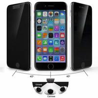 anti-parlama iphone paketleme toptan satış-Gizlilik temperli cam için iphone 7 7 plus anti-casus ekran koruyucu için iphone 6 6 s artı galaxy s6 perakende paketi ile anti-parlama filmi