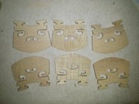 6 PCs Alta qualidade VIOLA bridge 48mm old maple violin parts