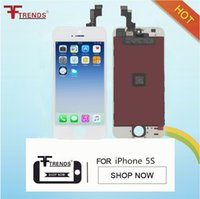 Atacado - Black White LCD Display Touch Screen Digitizer Montagem completa para iPhone 5S Replacement Repair Parts LCD