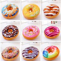Wholesale Back Mats - Cushion Decorative Pillow Funny Cartoon Sweet Donut Decorative Pillows almofada Sofa and chair back Cushion Car Mats Student pillow Toys fre