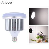 Wholesale Video Daylight Bulb - Wholesale-Andoer Photo Studio Lamp 50W 5500K E27 Socket Video LED Light Bulb Continuous Daylight Fill-in Light for Camera Smartphone