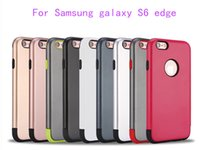 Wholesale Ace Back Cover - Armor Hybrid Case For Samsung galaxy S6 edge plus J1 J100 J1 ace J110 J1 2016 A3 31000 Shockproof Rugged Back Phone Cover