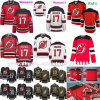Wholesale Full Michael - 2018 New Arrival New Jersey Devils 30 Martin Brodeur 17 Nico Hischier 19 Travis Zajac 90 Marcus Johansson 13 Michael Cammalleri Red Jerseys
