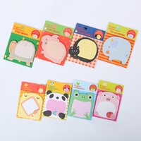 Wholesale Notepad Animal Sticky - Wholesale- 5 PCS Creative Stationery Forest Animal Series Cute Paper Memo Pad Sticker Post Sticky Notes Notepad School Office Supplies