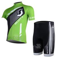 Wholesale Scott Cycling Bib Sets - Pro team Cycling Jersey Short sleeves SCOTT Ropa Ciclismo MTB Bike Bib Shorts Set clothing MTB Bicycle clothes Sportswear