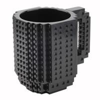 Wholesale Toy Building Blocks China - Wholesale- DIY Build-on brick mug Style puzzle cup my building blocks water bottle frozen&hot drink mug 2016 christmas adult kids toys