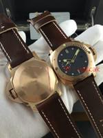 Wholesale Titanium Diving Watches - Top AAA Titanium QUARTZ Ceramic Bezel Watches Men Auto Date 1950 Pam389 Watch Men's Rubber Sport Dive Pam 389 Mens Wristwatches.