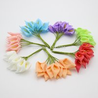 Wholesale Calla Lily Craft Flowers - Wholesale-New Crafts Mini Calla Lily 144pcs lot Wedding Decorations Flowers Flower 2-4cm Small PE Flowers Artificial