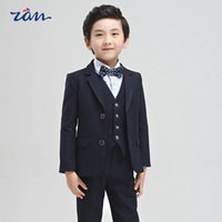 Wholesale Children dress suit vest suit in boy child piano graduation show Flower Girl Dress Costume boy