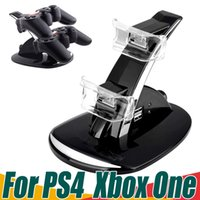 Precio de Xbox dual-Cargadores Dual USB para PS4 Xbox One controladores inalámbricos 2 LED de carga USB Dock Mount Stand titular para PS4 Xbox One Gamepad Playstation