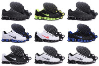 Wholesale Shox Athletic - Hot Selling Drop Shipping Trainers Shox TLX KPU Mens Athletic Running Shoes Sneaker Trainers Size 40-46