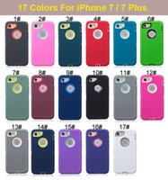 Wholesale Iphone 5c Silicone - 3 in 1 Hybrid Robot Silicone + Plastic Hard Back Cover + Front Screen Protective Case for iPhone 4 4S 5 5S 5C 6 6S 7 Plus iPhone7