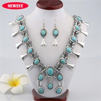 Wholesale Vintage Necklace Wholesale Manufacturer - Wholesale- 2017 new European manufacturers selling Vintage Turquoise Necklace pattern beaded necklaces wholesale fine jewelry one directi