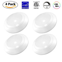 Led Energy Star online - LED Downlight 4 Inch 11W Dimmable LED Surface Recessed Mount Disk Light with ETL Energy Star Approved, Wet Location, 4-Pack