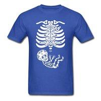 Wholesale Boys Skeleton Shirt - 2017 Fashion Women Skeleton Sugar Skull Boy Men's T-Shirt 100% Cotton O-Neck T Shirt