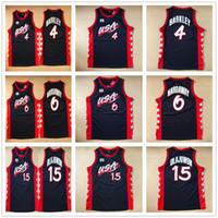 Wholesale Quick Olympic Jersey - 1996 Atlanta Olympic USA Team Basketball Jerseys Dream 3 Throwback #4 Charles Barkley 6 Penny Hardaway 15 Hakeem Olajuwon Navy Blue Jersey