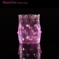 Wholesale Pineapple Penis Sleeve - Wholesale- HoozGee Man Sex Products Pineapple-Type Cockring Penis Ring Sex Sleeve Cock Ring Adult Toys for Male Extended Ejaculation Time