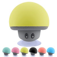 Alto-falantes Bluetooth Handsfree Mushroom Mini alto-falante Wireless Sucker Cup Audio Receptor Música Stereo portátil Subwoofer USB para Android IOS PC