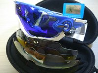 Wholesale Top Cycling Sunglasses - TOP Quality Fashion 4 Lens Brand Polarized Jawbreaker Sunglasses For Men Women Sport Cycling Bicycle Mens Sunglasses Sun Glasses Gogg