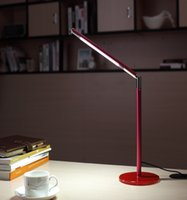 Wholesale Brushed Steel Lamp - 2017 the new modern creative LED desk lamp metal folding LED the children's learning work USB good eyesight desk lamp that shield an eye