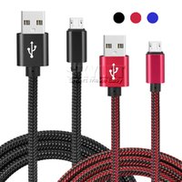 xperia usb-kabel großhandel-USB-Kabel umsponnenes V8 Mikro 1M für Galaxie / Xperia / Nexus / Fahrwerk-Android-Telefon-Aluminiumlegierung-feste Geflecht-Ladegerät-Kabel-Daten-Linie kein Paket