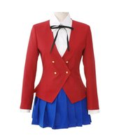 Wholesale cosplay women tiger for sale - Kukucos Anime TIGER DRAGON Girs Sailor Suit Coat Skirt Shirt Complete Suit Cosplay Costume