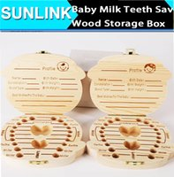 Wholesale Tooth Box For Baby Milk Teeth Save Wood Storage collections Box umbilical cord lanugo creative gift for kid Boy Girl