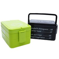 Wholesale Green Chopsticks - Plastic Lunch Box, Food Container Portable Bento Box. 2-Layers High-Capacity Food Preservation. Durable,Attractive, and Easy to Clean.