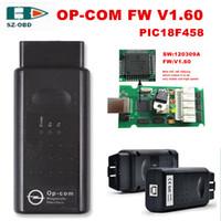 Wholesale Op Com Tool - The latest opcom v1.60 OBD2 scanner OP COM Best PIC18F458+FT232 Chip 120309A op-com For Opel obd2 diagnostic tools Free Shipping