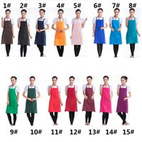 Wholesale Personalized Aprons - Kitchen Customized Personalized Unisex Apron Cooking Aprons Restaurant Bib Apron Dress with Pocket Gift Hot