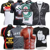 Wholesale short sleeve cycling jersey sale resale online - 2017 Cartoon Punisher Skull Cycling Tops Short Sleeves Quick Dry MTB Millot Cilismo Cycling Jerseys Size XS XL Styles For Sale