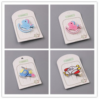 Wholesale Horse Helicopter - 30pcs lot Solid Embroidery Cute Cartoon Baby Infant Hairpins Fashion Novelty Hobby Horse Cockhorse Helicopter Girls Hairclip
