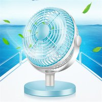 Wholesale 7 quot Protable Fan Degree Rotation Ultra quiet Electric Mini Home Office Desktop Computer Electric Cooling Laptop USB Cooling Fan