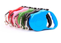 Wholesale Retractable Leashes For Dogs - Hot 3m Retractable Dog Leash Lead One-handed Lock Training Pet Puppy Walking Nylon Leashes Adjustable Dog Collar for Dogs Cats