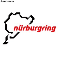 Wholesale Racing Heads - 2017 Hot Sale Nurburgring Funny Jdm Car Styling Race Car Track Window Vinyl Decal Decorative Art Sticker JDM